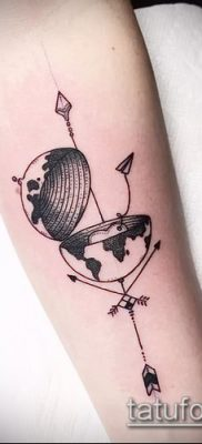 Фото тату глобус – пример рисунка – 26052017 – пример – 047 Tattoo globe