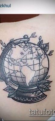Фото тату глобус – пример рисунка – 26052017 – пример – 065 Tattoo globe