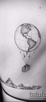 Фото тату глобус – пример рисунка – 26052017 – пример – 068 Tattoo globe