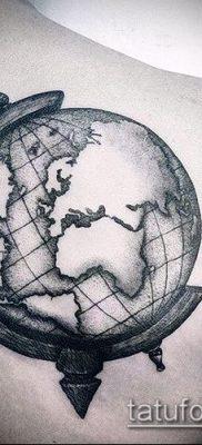 Фото тату глобус – пример рисунка – 26052017 – пример – 070 Tattoo globe