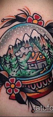 Фото тату глобус – пример рисунка – 26052017 – пример – 071 Tattoo globe