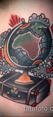 Фото тату глобус – пример рисунка – 26052017 – пример – 073 Tattoo globe
