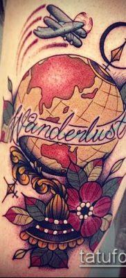 Фото тату глобус – пример рисунка – 26052017 – пример – 085 Tattoo globe