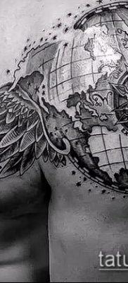 Фото тату глобус – пример рисунка – 26052017 – пример – 090 Tattoo globe
