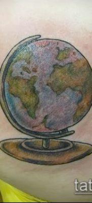 Фото тату глобус – пример рисунка – 26052017 – пример – 095 Tattoo globe