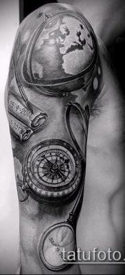 Фото тату глобус – пример рисунка – 26052017 – пример – 099 Tattoo globe