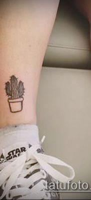 Фото тату кактус – пример рисунка – 27052017 – пример – 014 Tattoo cactus