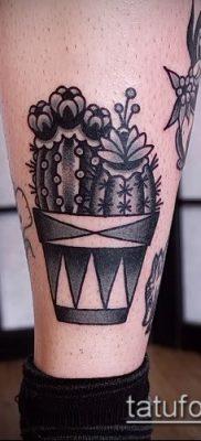 Фото тату кактус – пример рисунка – 27052017 – пример – 052 Tattoo cactus