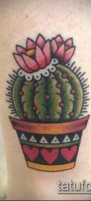 Фото тату кактус – пример рисунка – 27052017 – пример – 054 Tattoo cactus