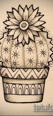 Фото тату кактус – пример рисунка – 27052017 – пример – 057 Tattoo cactus
