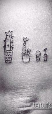 Фото тату кактус – пример рисунка – 27052017 – пример – 114 Tattoo cactus