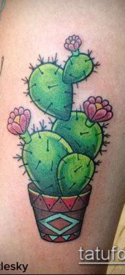 Фото тату кактус – пример рисунка – 27052017 – пример – 116 Tattoo cactus