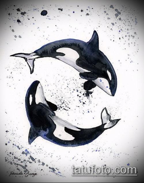Фото тату касатка - 19052017 - пример - 039 Tattoo Killer whale