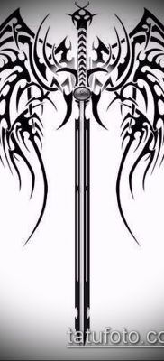 Фото тату клинок оружие – пример рисунка – 27052017 – пример – 005 Tattoo blade weapo