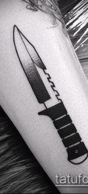 Фото тату клинок оружие – пример рисунка – 27052017 – пример – 007 Tattoo blade weapo