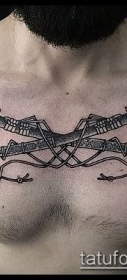Фото тату клинок оружие – пример рисунка – 27052017 – пример – 012 Tattoo blade weapo