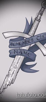 Фото тату клинок оружие – пример рисунка – 27052017 – пример – 025 Tattoo blade weapo