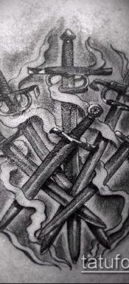 Фото тату клинок оружие – пример рисунка – 27052017 – пример – 038 Tattoo blade weapo