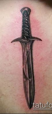 Фото тату клинок оружие – пример рисунка – 27052017 – пример – 043 Tattoo blade weapo