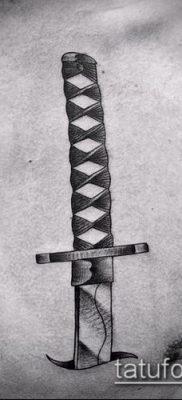 Фото тату клинок оружие – пример рисунка – 27052017 – пример – 049 Tattoo blade weapo