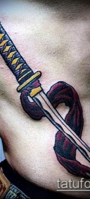 Фото тату клинок оружие – пример рисунка – 27052017 – пример – 052 Tattoo blade weapo