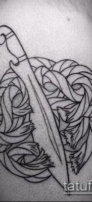 Фото тату клинок оружие – пример рисунка – 27052017 – пример – 056 Tattoo blade weapo