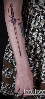 Фото тату клинок оружие – пример рисунка – 27052017 – пример – 066 Tattoo blade weapo