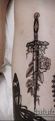 Фото тату клинок оружие – пример рисунка – 27052017 – пример – 068 Tattoo blade weapo