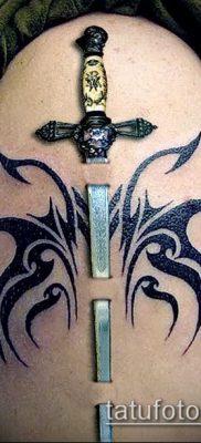 Фото тату клинок оружие – пример рисунка – 27052017 – пример – 070 Tattoo blade weapo