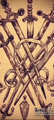 Фото тату клинок оружие – пример рисунка – 27052017 – пример – 077 Tattoo blade weapo