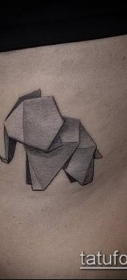 Фото тату оригами (Tattoo origami example) (значение) – пример рисунка – 013 tatufoto.com