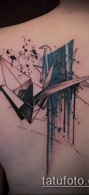 Фото тату оригами (Tattoo origami example) (значение) – пример рисунка – 014 tatufoto.com
