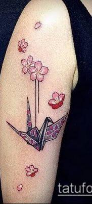 Фото тату оригами (Tattoo origami example) (значение) – пример рисунка – 015 tatufoto.com