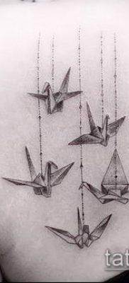 Фото тату оригами (Tattoo origami example) (значение) – пример рисунка – 018 tatufoto.com