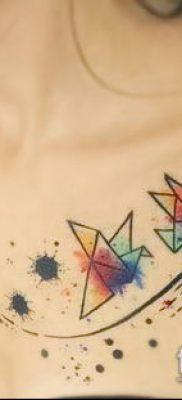 Фото тату оригами (Tattoo origami example) (значение) – пример рисунка – 022 tatufoto.com