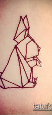 Фото тату оригами (Tattoo origami example) (значение) – пример рисунка – 032 tatufoto.com