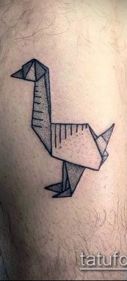 Фото тату оригами (Tattoo origami example) (значение) – пример рисунка – 036 tatufoto.com