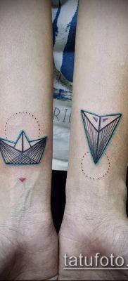 Фото тату оригами (Tattoo origami example) (значение) – пример рисунка – 040 tatufoto.com