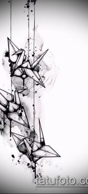 Фото тату оригами (Tattoo origami example) (значение) – пример рисунка – 043 tatufoto.com