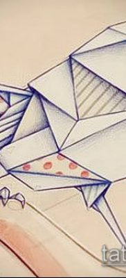 Фото тату оригами (Tattoo origami example) (значение) – пример рисунка – 047 tatufoto.com