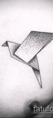 Фото тату оригами (Tattoo origami example) (значение) – пример рисунка – 061 tatufoto.com