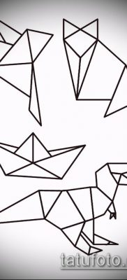 Фото тату оригами (Tattoo origami example) (значение) – пример рисунка – 063 tatufoto.com