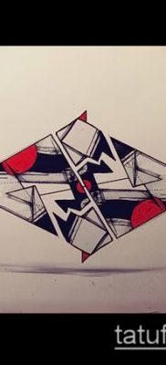 Фото тату оригами (Tattoo origami example) (значение) – пример рисунка – 065 tatufoto.com