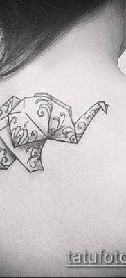 Фото тату оригами (Tattoo origami example) (значение) – пример рисунка – 072 tatufoto.com