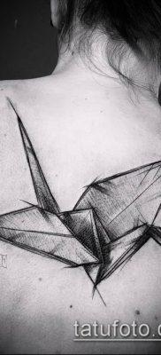 Фото тату оригами (Tattoo origami example) (значение) – пример рисунка – 073 tatufoto.com