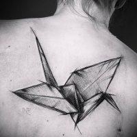 Значение тату оригами