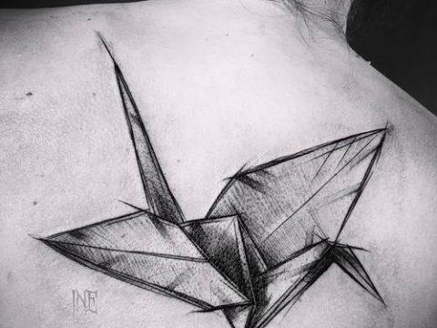 Фото тату оригами (Tattoo origami example) (значение) - пример рисунка - 073 tatufoto.com