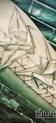 Фото тату оригами (Tattoo origami example) (значение) – пример рисунка – 078 tatufoto.com