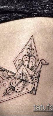Фото тату оригами (Tattoo origami example) (значение) – пример рисунка – 080 tatufoto.com