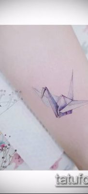 Фото тату оригами (Tattoo origami example) (значение) – пример рисунка – 087 tatufoto.com